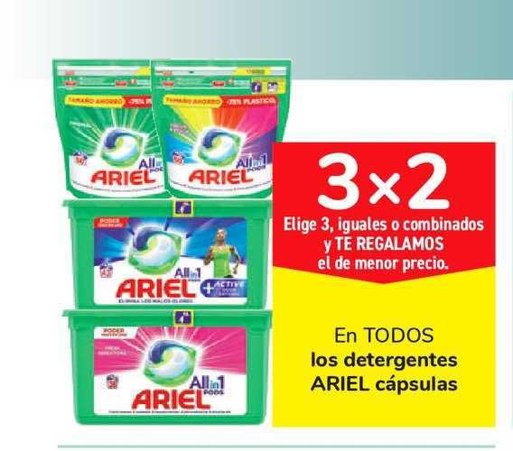 Carrefour Market 3x2 En TODOS Los Detergentes ARIEL Cápsulas