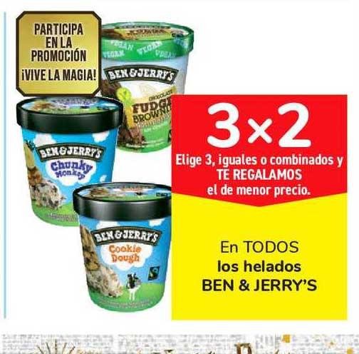 Carrefour Market 3x2 En TODOS Los Helados BEN & JERRY'S