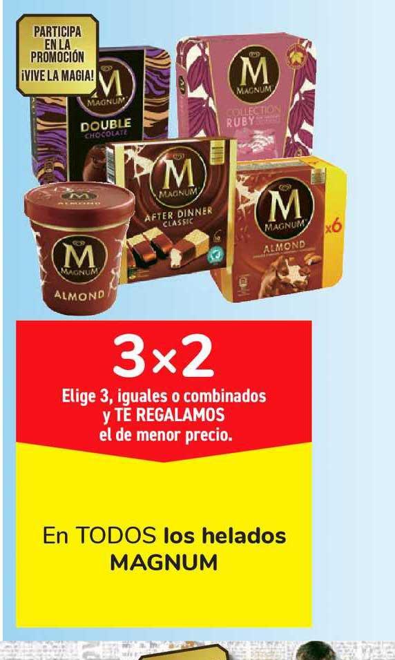 Carrefour Market 3x2 En TODOS Los Helados MAGNUM