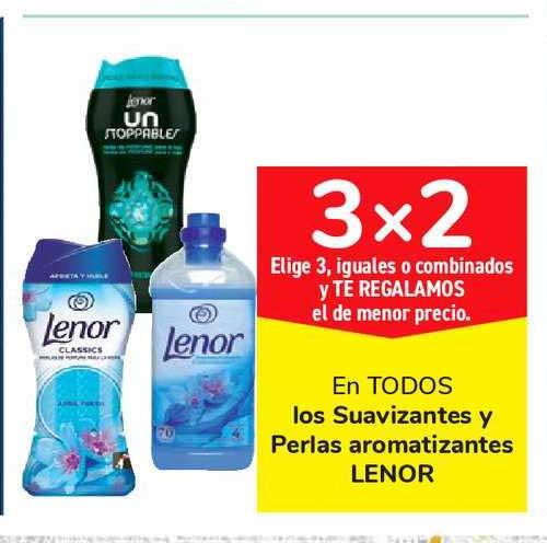 Carrefour Market 3x2 En TODOS Los Suavizantes Y Perlas Aromatizantes LENOR