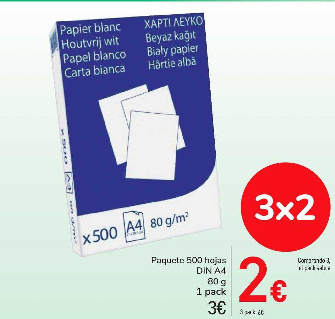 Carrefour Market 3x2 Paquete 500 Hojas DIN A4