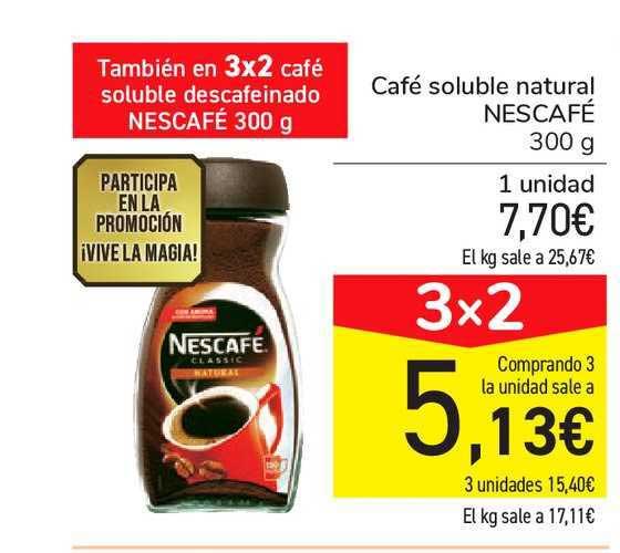 Carrefour Market 3x2 Café Soluble Natural NESCAFÉ 300g