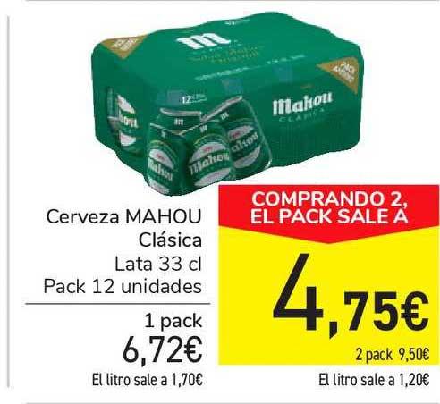 Carrefour Market Cerveza MAHOU Clásica 33cl