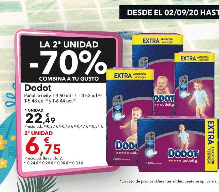 Clarel La 2ᵃUnidad -70% Dodot Pañal