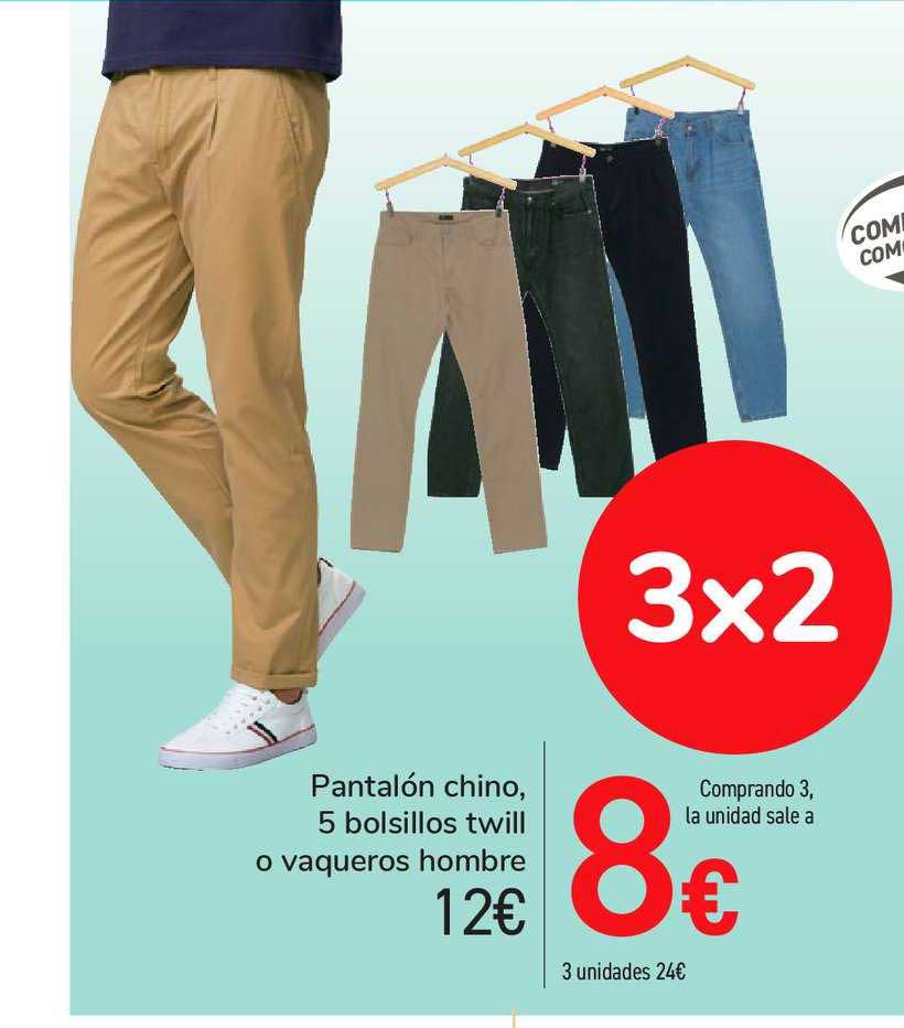 Oferta Pantalon Chino 5 Bosillos Twill O Vaqueros Hombre En Carrefour Market
