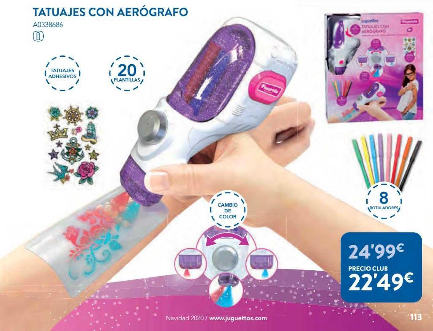 Juguettos Tatuajes Con Aerógrafo