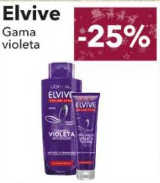 Clarel -25% Elvive Gama Violeta