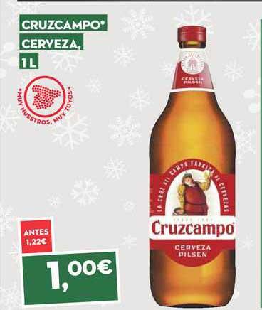SuperSol Cruzcampo Cerveza, 1 L