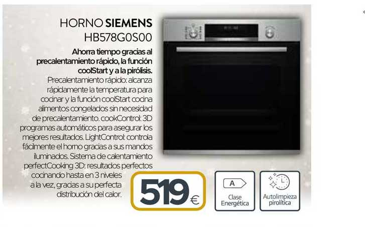 Tien 21 Horno Siemens Hb578g0s00