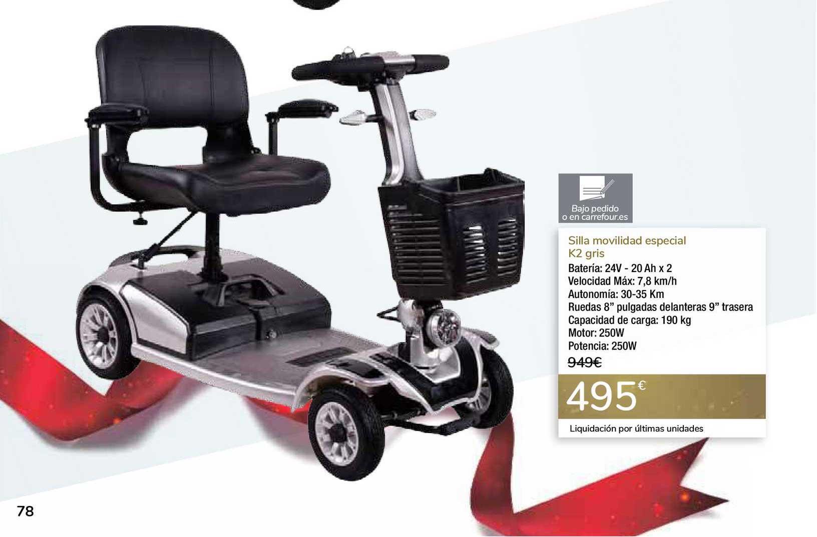 Carrefour Silla Movilidad Especial K2 Gris