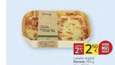 Consum Lasaña Vegetal Dunany 350 G
