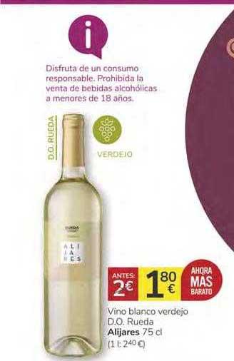 Consum Vino Blanco Verdejo D.O. Rueda Alijares 75 Cl