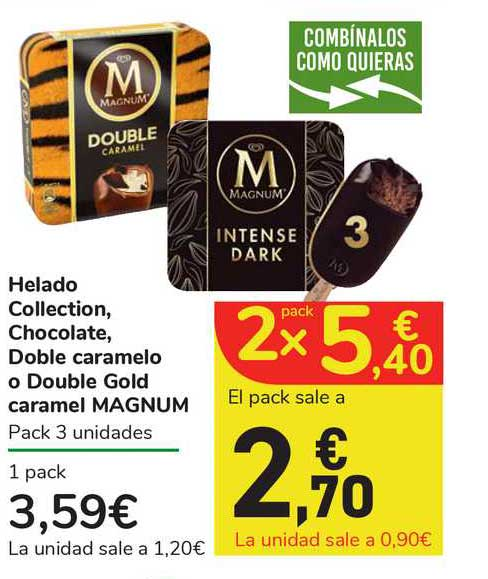 Carrefour Express Helado Collection, Chocolate Doble Caramelo Of Double Gold Caramel Magnum