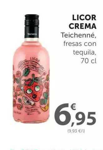 SPAR Licor Crema Teichenné, Fresas Con Tequila, 70 Cl