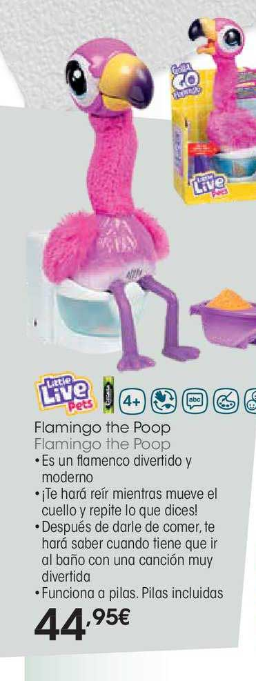 EROSKI Little Live Pets Flamingo The Poop