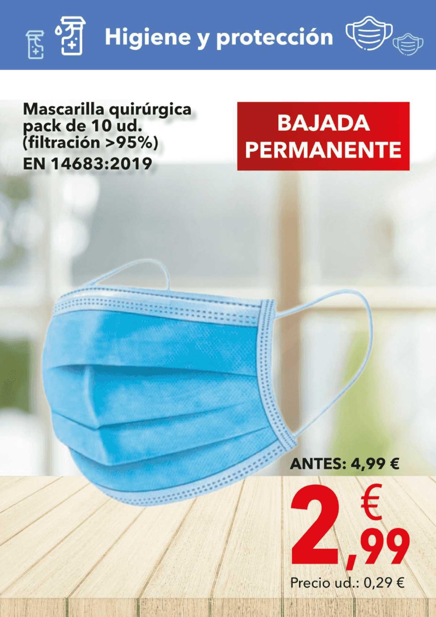 Clarel Mascarilla Quirúrgica Pack De 10 Ud.