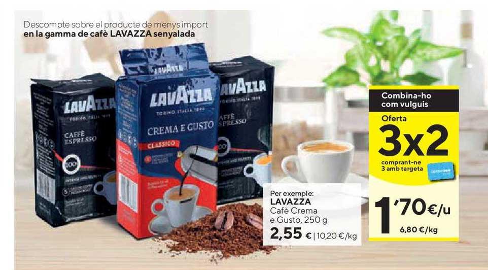 Caprabo Oferta 3x2 En La Gamma De Cafè Lavazza Senyalada