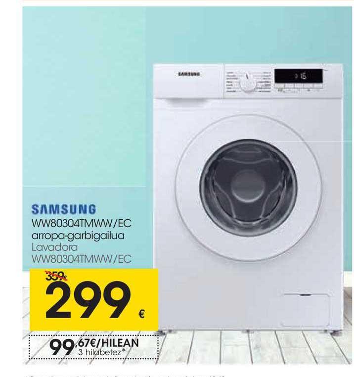 EROSKI Samsung WW80304TMWW-EC Arropa-Garbigailua