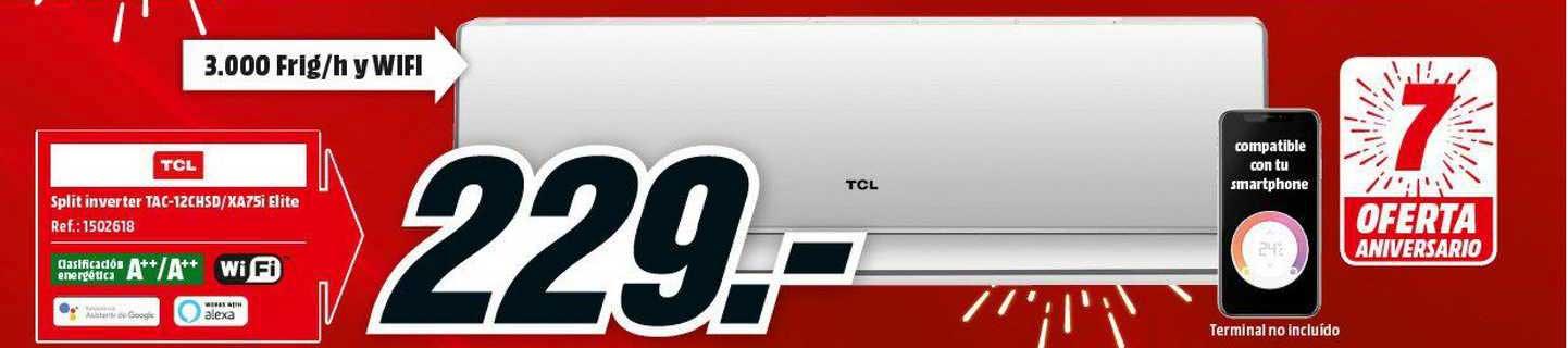 MediaMarkt TCL Split Inverter TAC-12CHSD-XA75i Elite