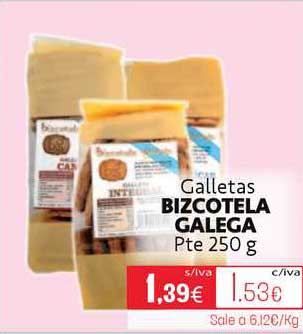 Cuevas Cash Galletas Bizcotela Galega Pte 250 G