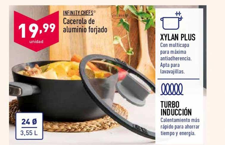 ALDI INFINITY CHEFS Cacerola De Aluminio Forjado
