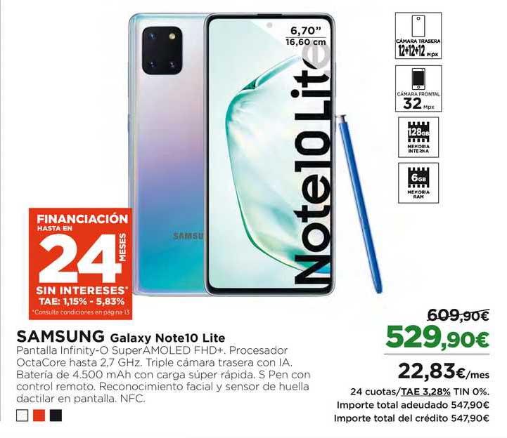 El Corte Inglés SAMSUNG Galaxy Note10 Lite