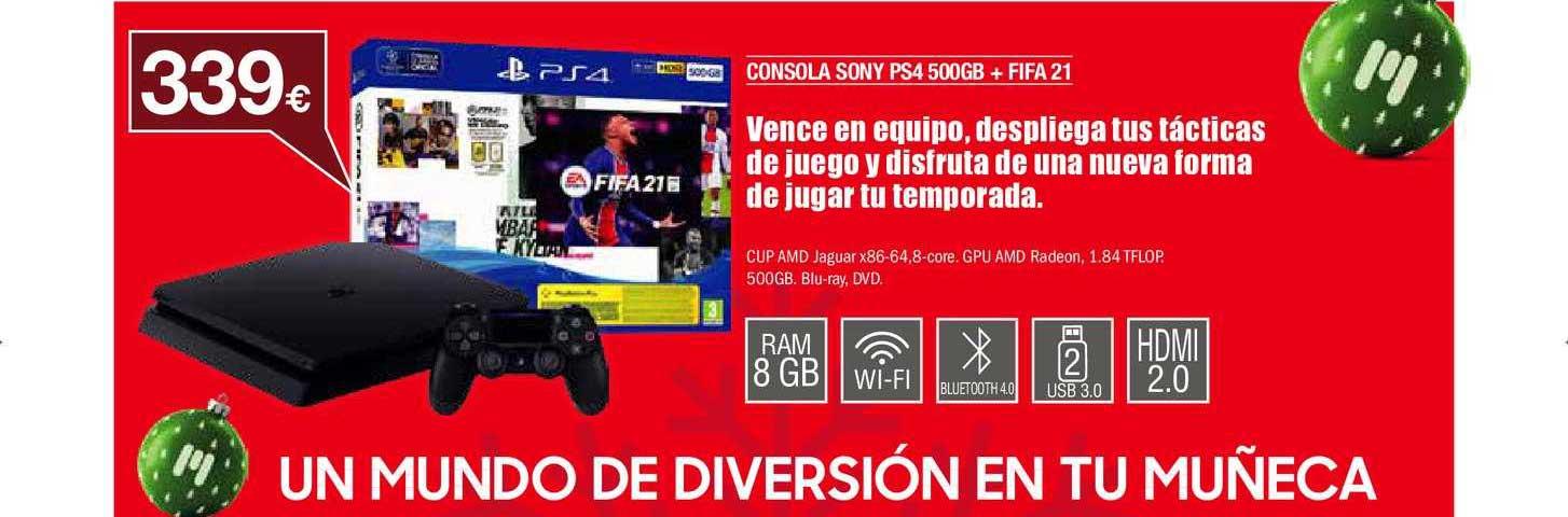 Milar Consola Sony Ps4 500gb + Fifa 21