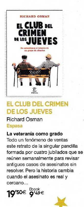 Fnac El Club Del Crimen De Los Jueves Richard Osman