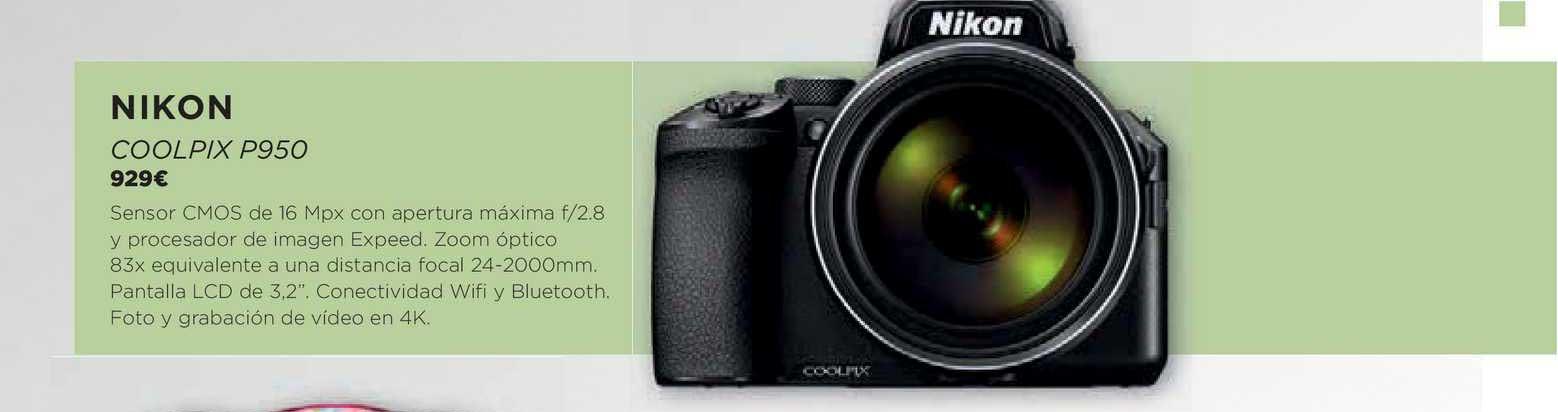 El Corte Inglés Nikon Coolpix P950