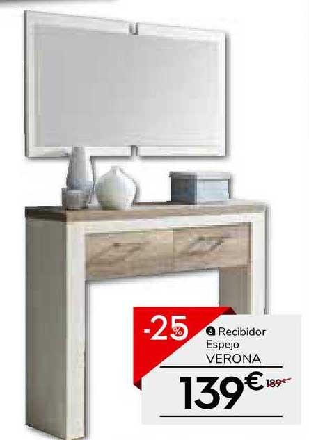 Conforama Recibidor Espejo Verona