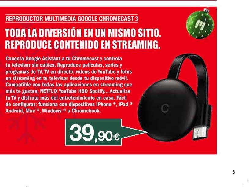 Milar Reproductor Multimedia Google Chromecast 3