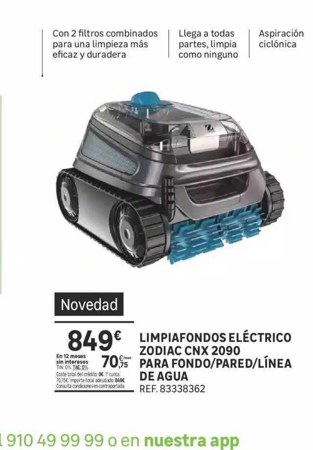 Leroy Merlin Limpiafondos Eléctrico Zodiac Cnx 2090 Para Fondo ∕ Pared ∕ Línea De Agua