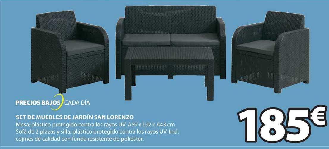 JYSK Set De Muebles De Jardín San Lorenzo