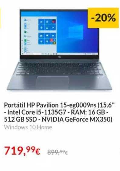 Worten Portátil Hp Pavilion 15-eg0009ns (15.6