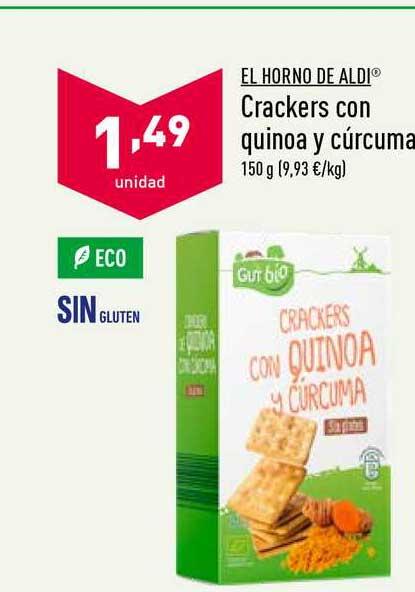 ALDI El Horno De Aldi Crackers Con Quinoa Y Cúrcuma