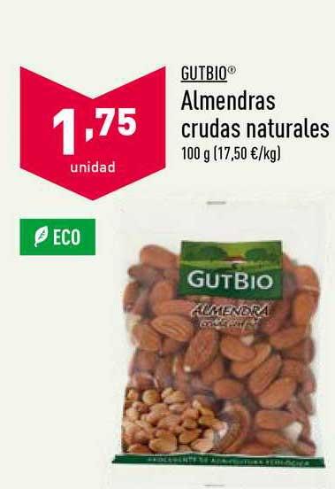 ALDI Gutbio Almendras Crudas Naturales