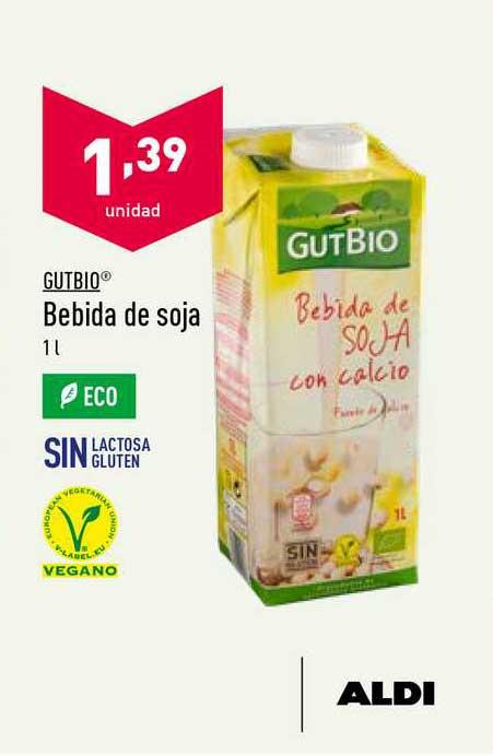 ALDI Gutbio Bebida De Soja