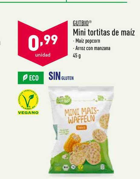 ALDI Gutbio Mini Tortitas De Maíz