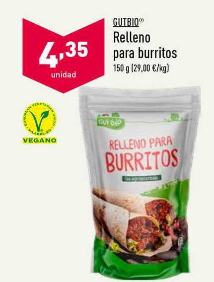 ALDI Gutbio Relleno Para Burritos
