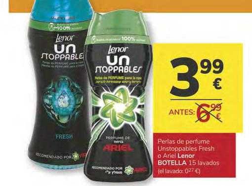 Consum Perlas De Perfume Unstoppables Fresh O Ariel Lenor Botella