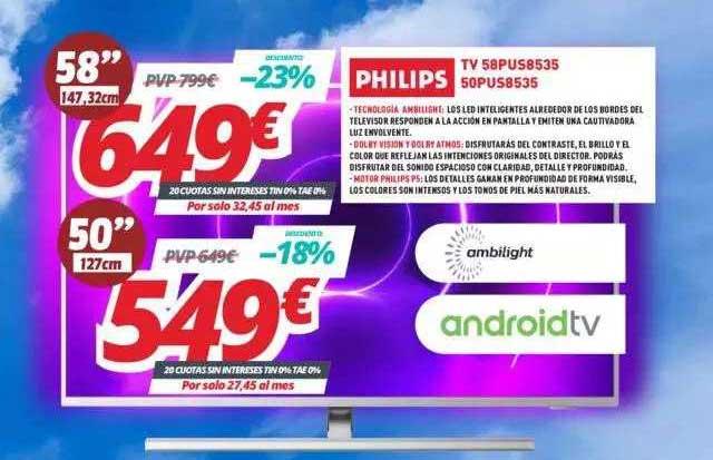 Mi Electro Philips Tv 58pus8536 50pus8535