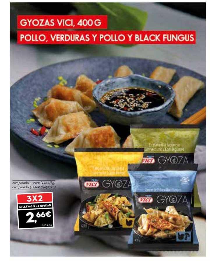 SuperSol 3x2 Gyozas Vici, 400 G Pollo, Verduras Y Pollo Y Black Fungus