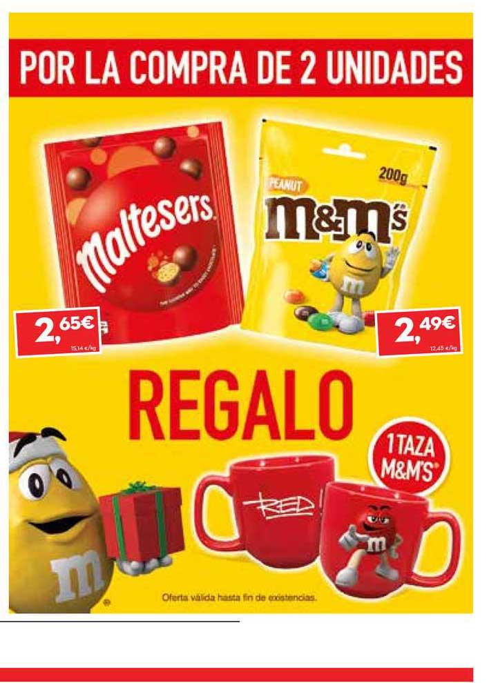 SuperSol Por La Compra De 2 Unidades Maltesers Y M&m's Regalo 1 Taza M&m's