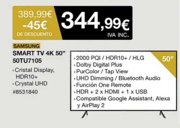 Costco Samsung Smart TV 4K 50
