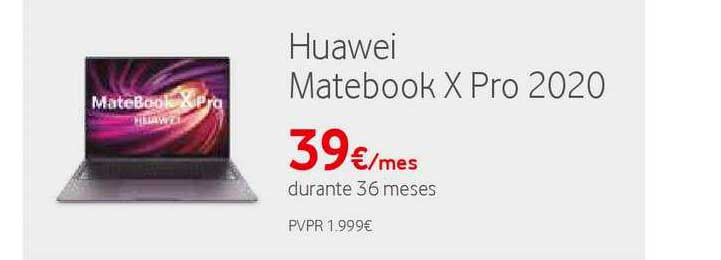 Vodafone Huawei Matebook X Pro 2020