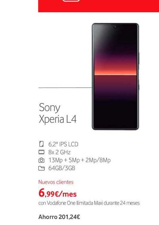 Vodafone Sony Xperia L4