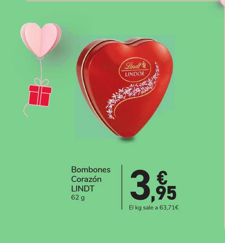 Carrefour Express Bombones Corazón Lindt 62 G