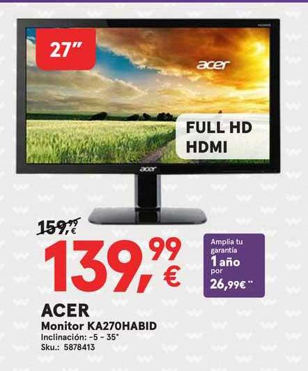 Worten Acer Monitor Ka270habid