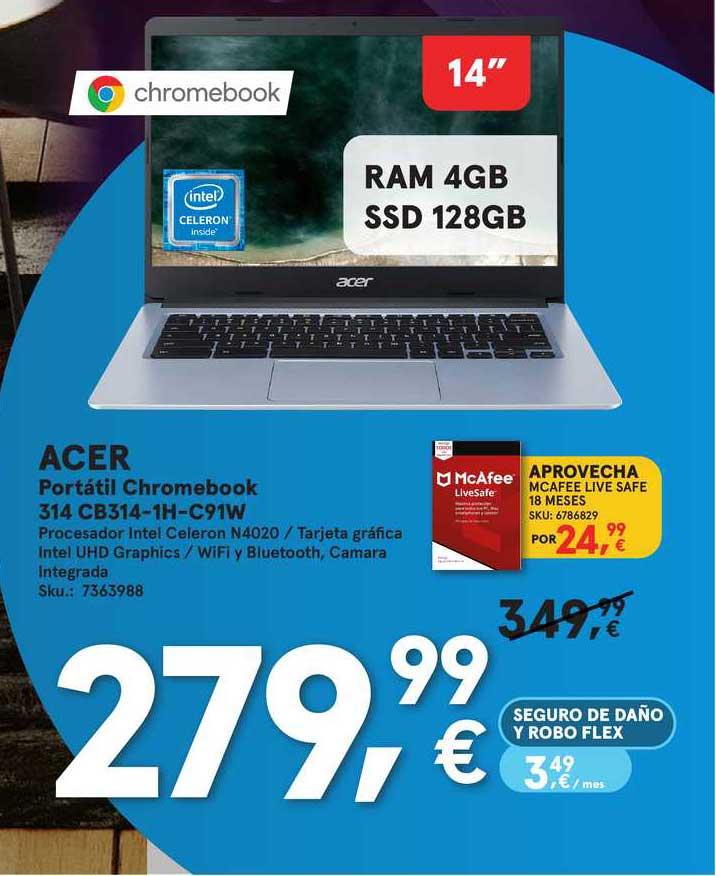 Worten Acer Portátil Chromebook 314 Cb314-1h-c91w