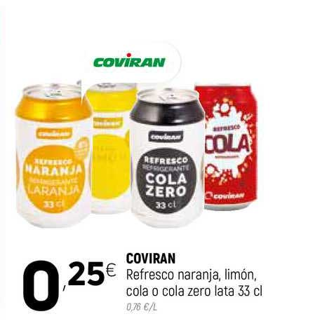 Coviran Coviran Refresco Naranja Limón Cola O Cola Zero